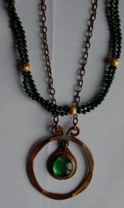 Rafael Canada Murano Glass and copper pendant
