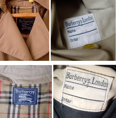 Various Vintage Burberrys Labels