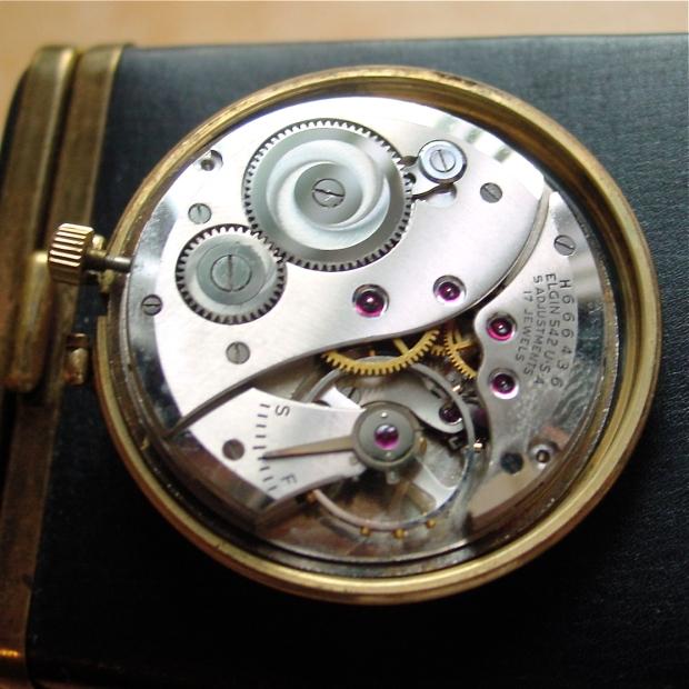 Elgin De Luxe Pocket Watch Movement