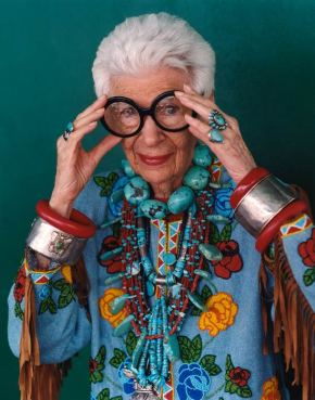 Portrait of Iris Apfel by Bruce Weber