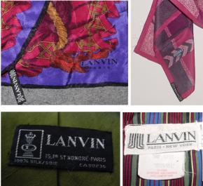 Vintage Lanvin Labels