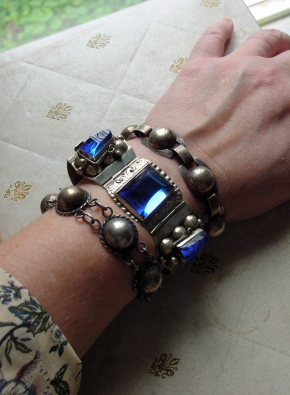 Mexican and Native American silver bracelets