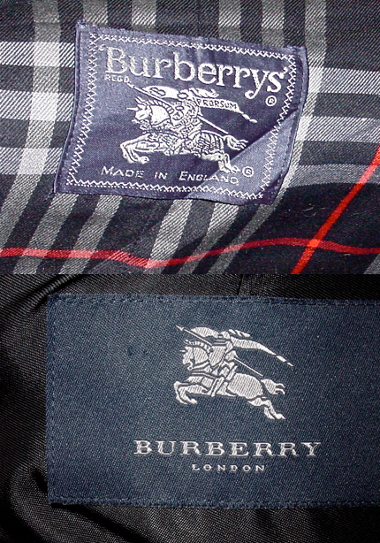 Vintage and Contemporary Burberry tags