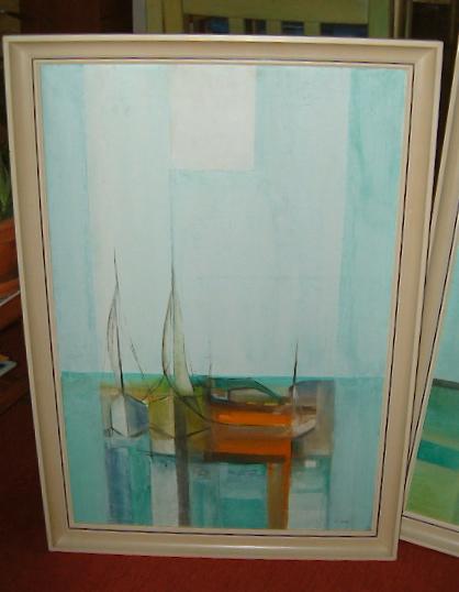 """Llewellyn Xavier """"Boats III"""", 1975"""