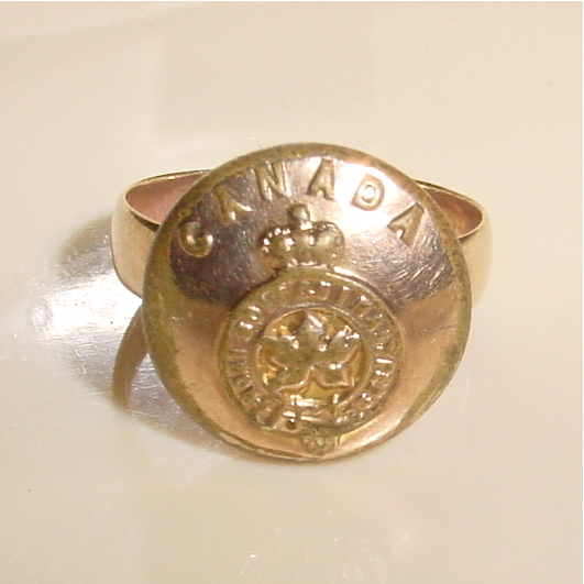 World War I Canada General Service Button Ring