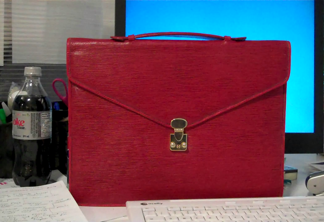 VIntage Red Leather Attaché Case