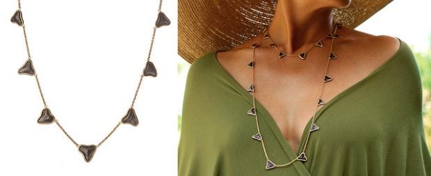 cresta bledsoe Shark tooth necklace