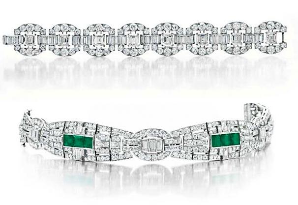 Huguette Clark Art Deco Cartier Bracelets