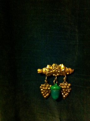 Art Deco Acorn Brooch
