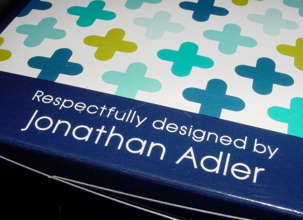 Jonathan Adler Cottenelle roll holder shipping box