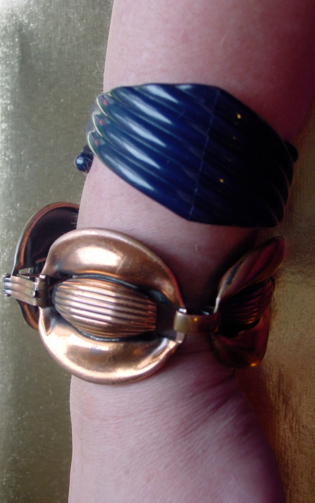 B + D Denmark and unsigned copper bracelets