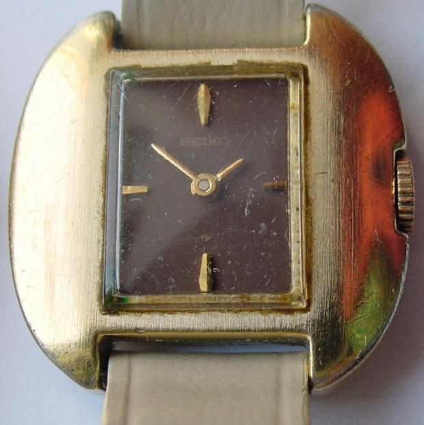1970s chocolate brown dial Seiko Hi Beat