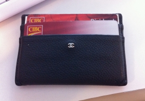 Leather Chanel Card Holder