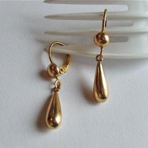 14K drop earrings