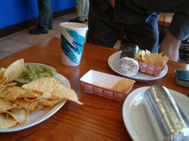 Chips Guacamole Burrito Aqua Fresca at El Toro SAn Francisco