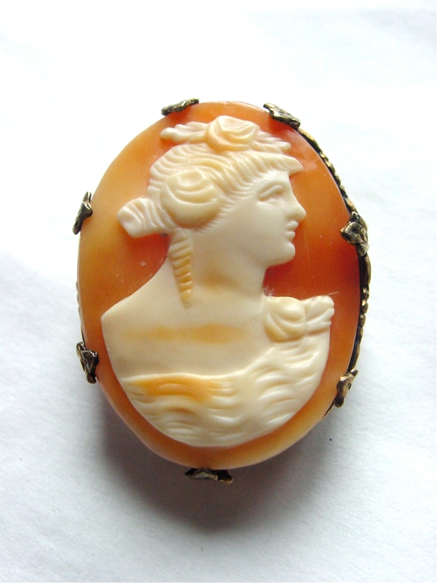 Antique sterling shell cameo