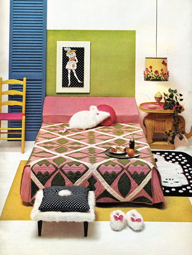 1960s bedroom decor