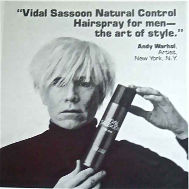Andy Warhol Vidal Sassoon Ad