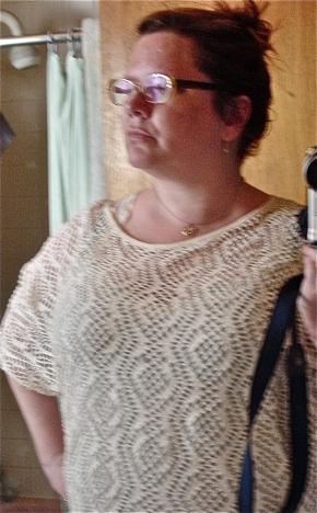 Vintage crochet tunic top