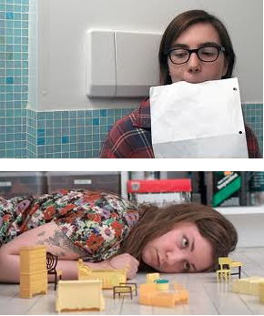 "Grace and Lena Dunham in ""Tiny Furniture"""