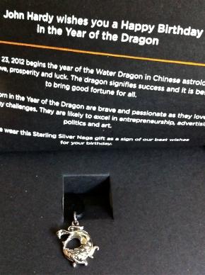 John Hardy Klub Dragon Naga Pendant