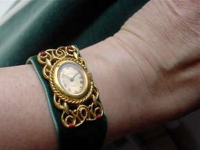 Vintage Vendome Watch with Velvet Strap