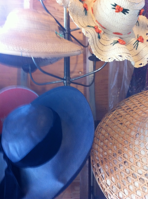 Hats at Gadabout storage sale
