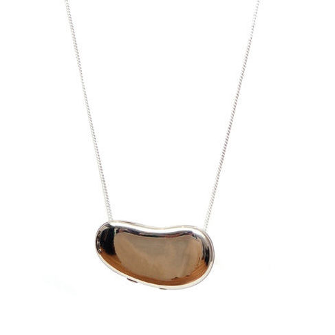 Halston solid perfume Peretti designed bean pendant