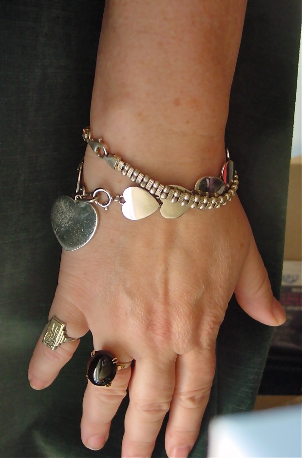 Collection of silver and silvertone jewelry