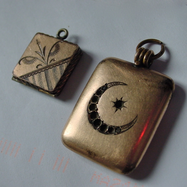 Victorian watch fob lockets