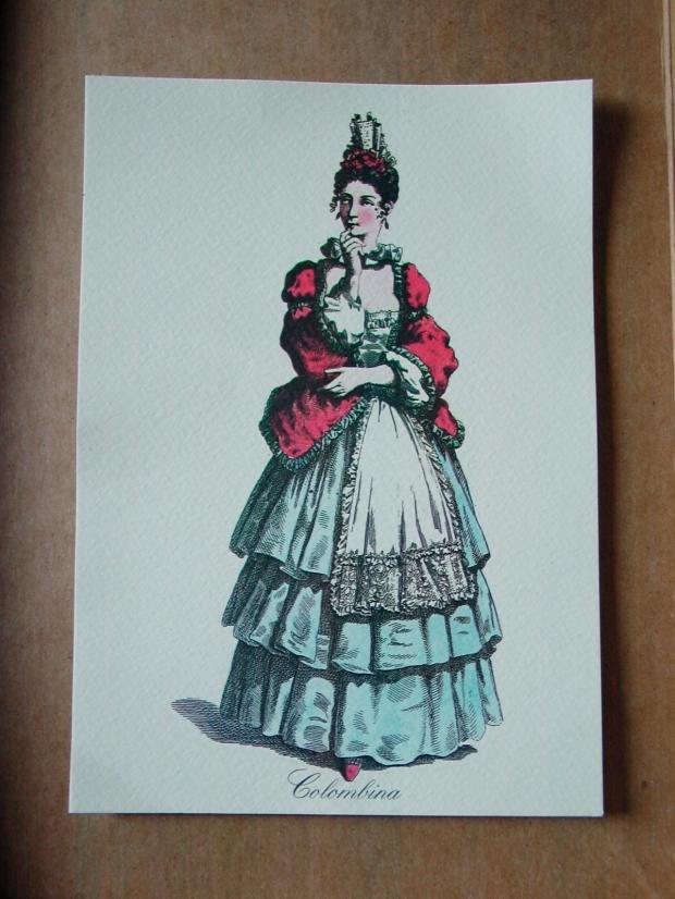Italian Commedia del arte costume illustration