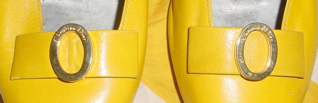 Vintage Yellow Christian Dior Shoes