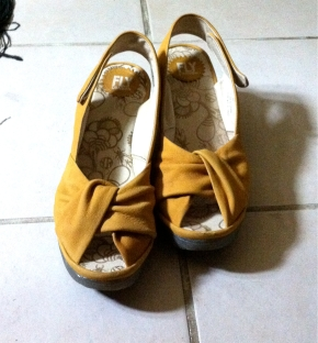 Yellow Suede Fly London shoes