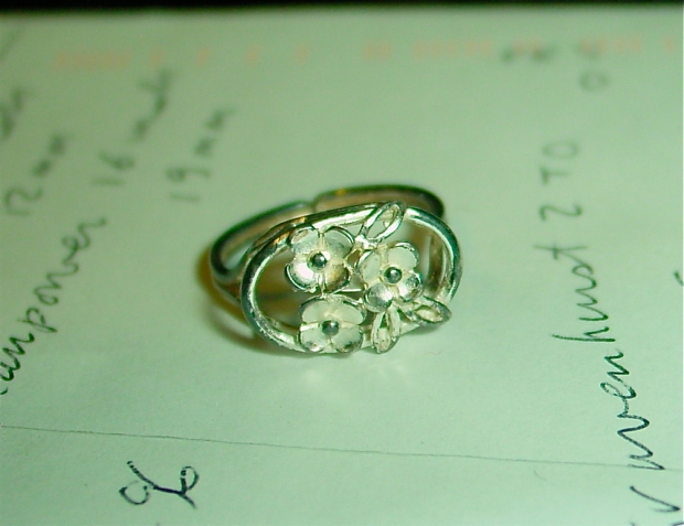 1930s sterling made in germany ring