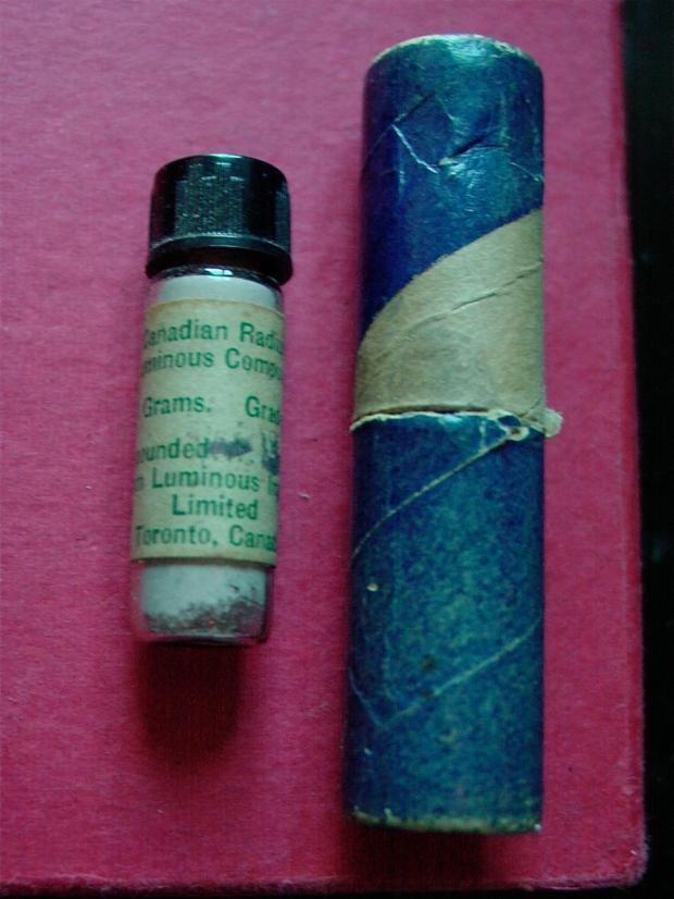 vial of radium luminous paint