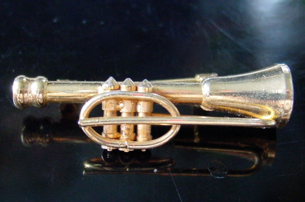 Playable Trumpet Brooch