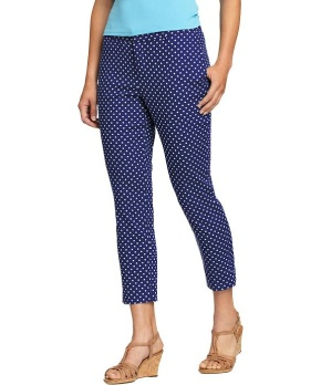 Cotton Twill polka dot capri pants from Old Navy