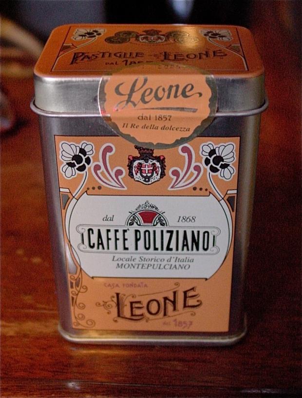 Caffé Poliziano Pastille Leone Tin