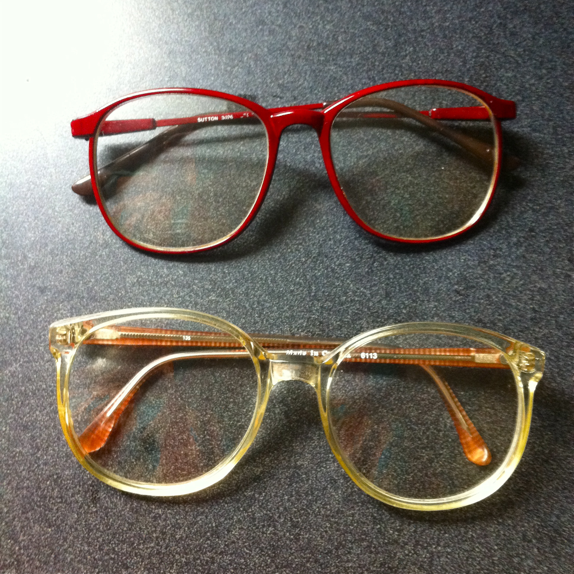 vintage eighties glasses frames