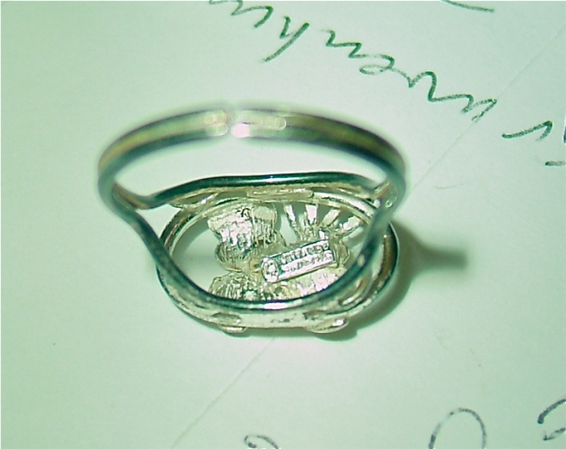 sterling made in germany Art Deco ring