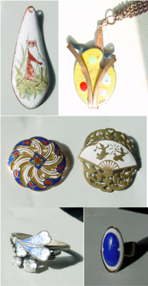 Collection of Enamelled Jewellery