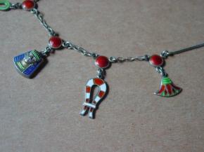 Art Deco Egyptian revival necklace detail
