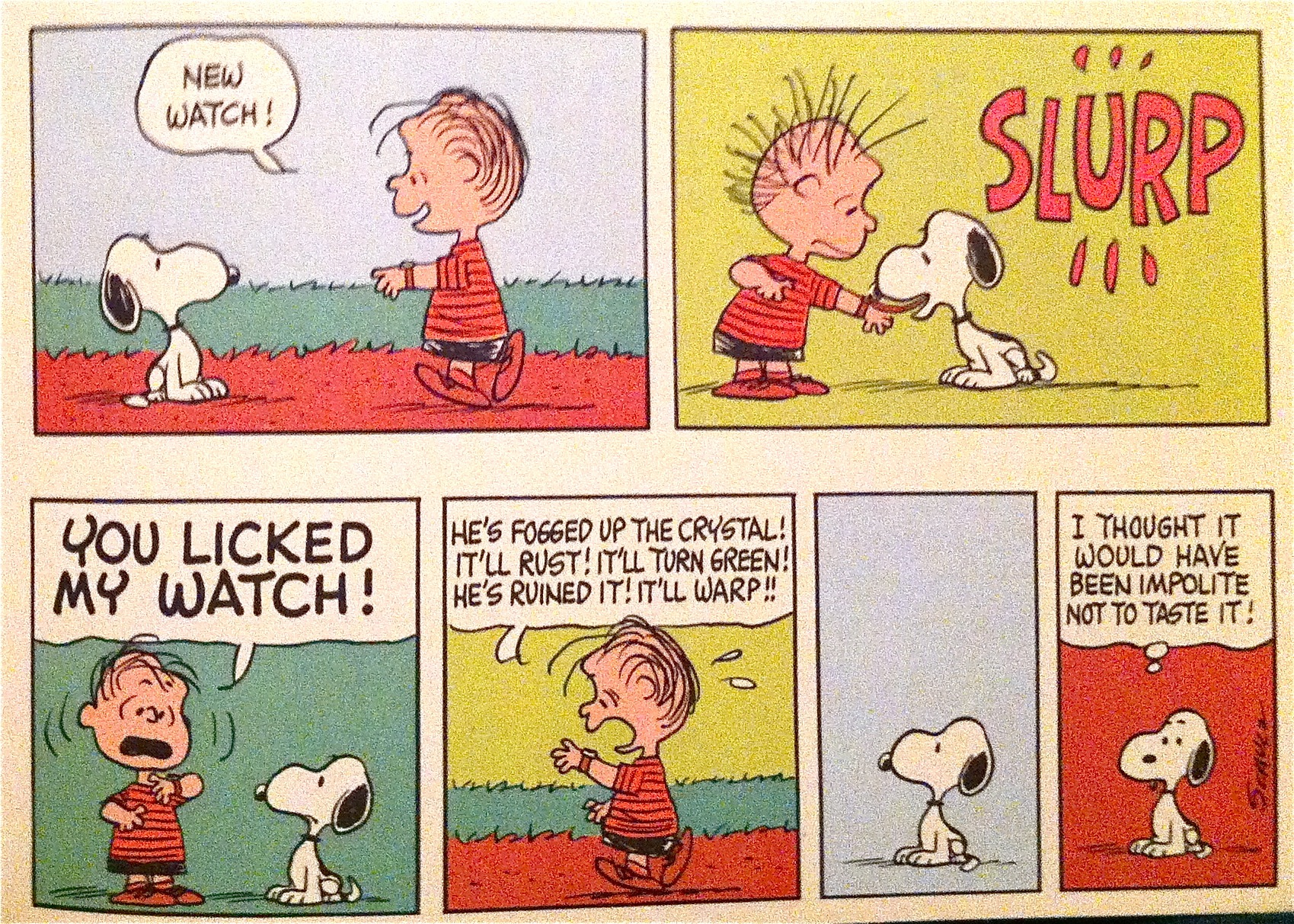 Snoopy / Charlie Brown Peanuts-licked-my-watch