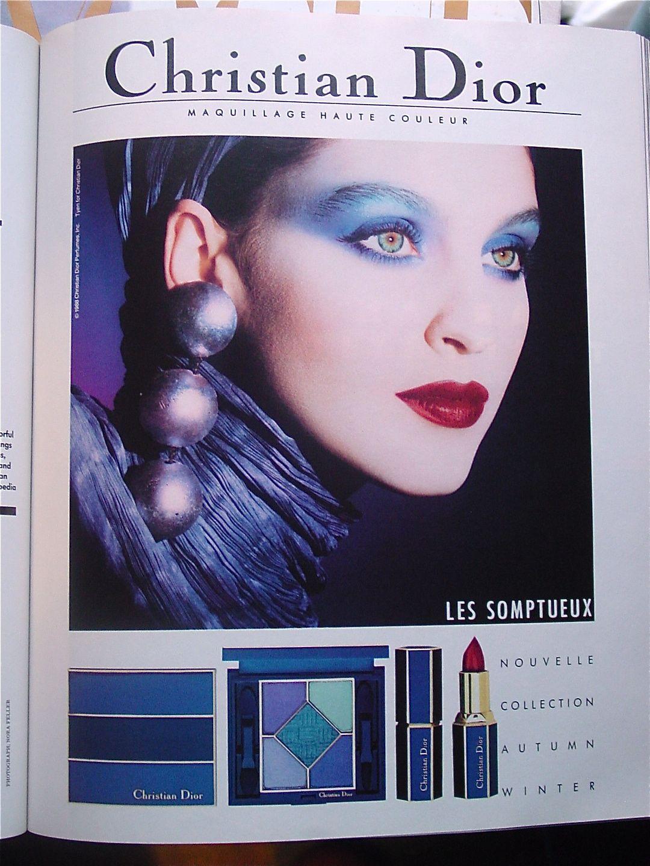 1988 Vintage Christian Dior Makeup Ad