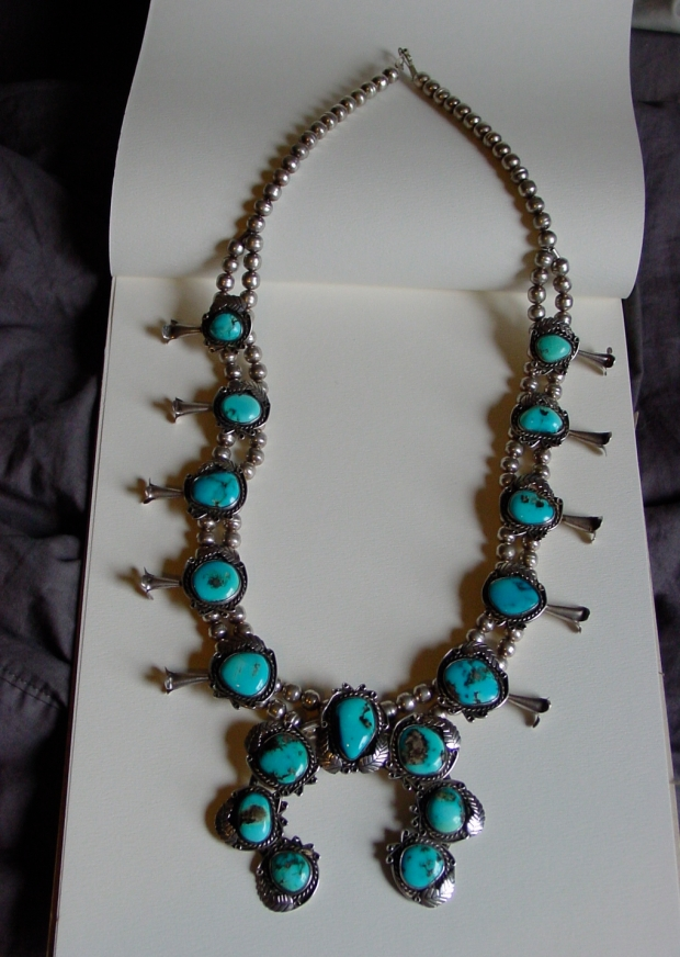 Vintage Squash Blossom Necklace