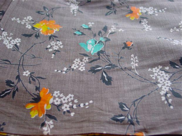 Vintage Floral Print Fabric