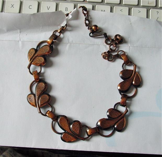 Copper Leaf Collar Necklace