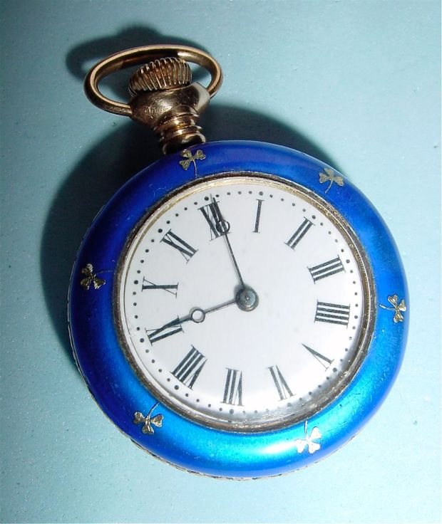 silver guilloche pocket watch 1