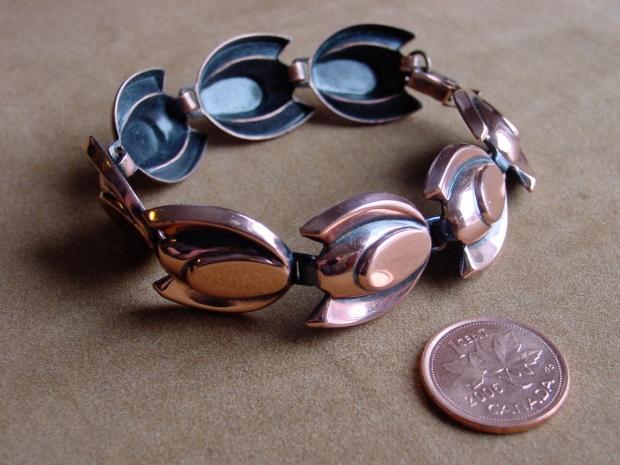 copper renoir tulip bracelet