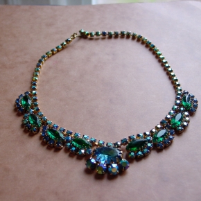 emerald green Juliana D&E necklace